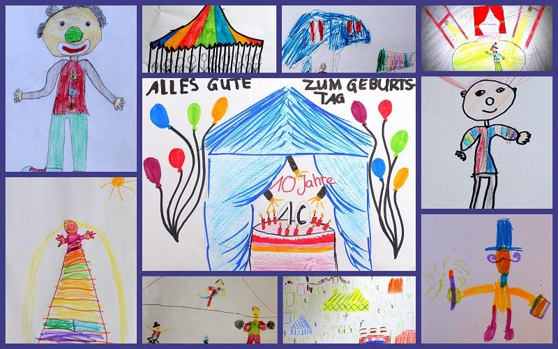 Gemalte Kinderbilder kleine künstler bei der zirkuszeitung kinderseiten der