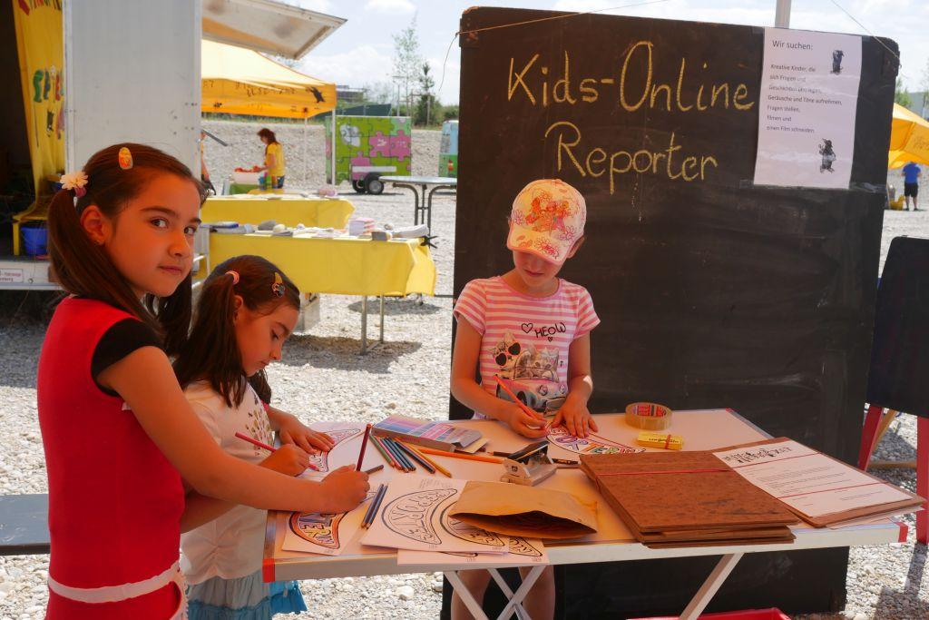 KIDS online Reporter bereiten sich vor