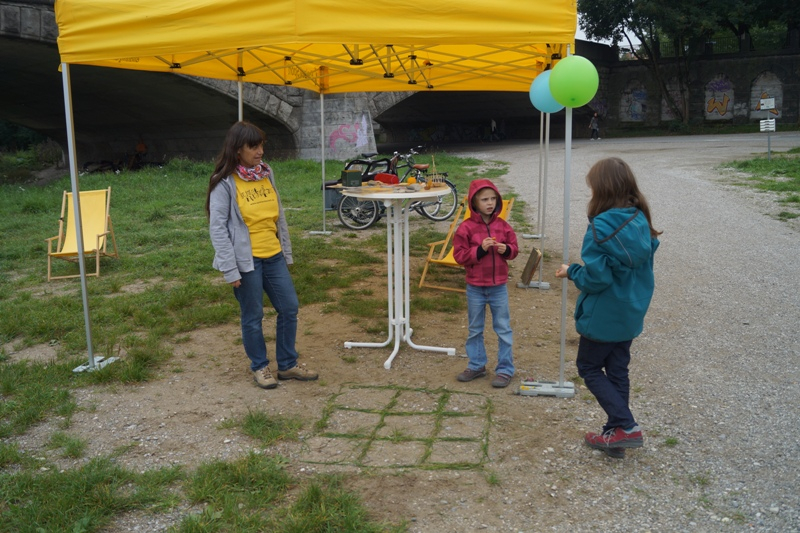 Isarspielmeile 2013: Info-Station