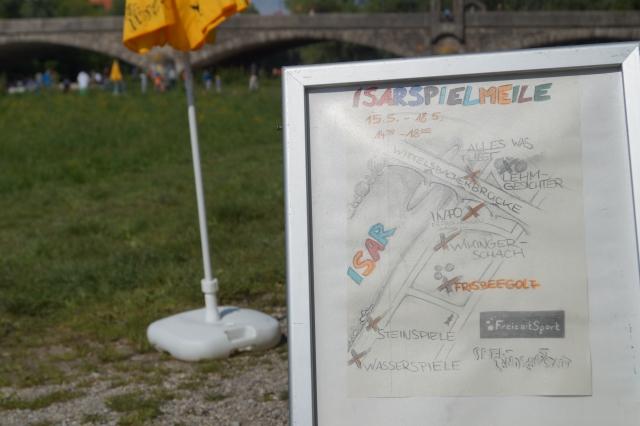 Isarspielmeile 2014: Frisbeegolf