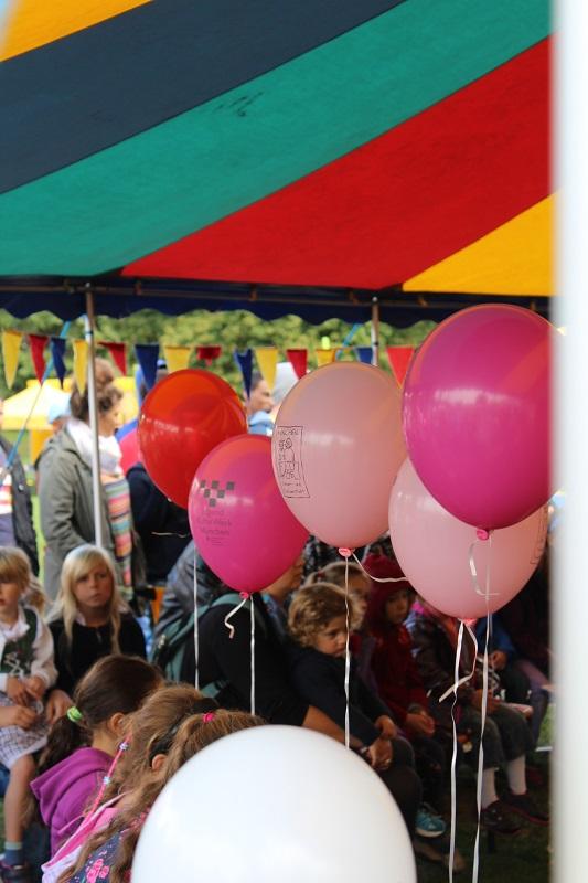 Luftballons im Festzelt