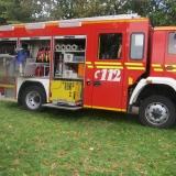 Auch die Feuerwehr ist da