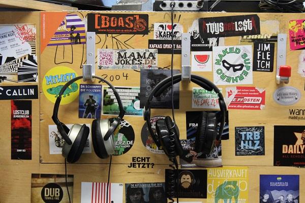 Kopfhörer bei Radio Feiewerk
