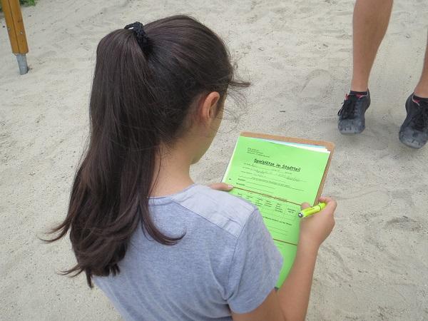 Spielplatzbewertung der Klasse 4c der Fernpaßgrundschule
