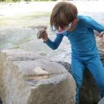 Große Steine zum Klettern