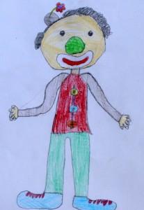 Anna,9, Der Clown mit der grünen Nase