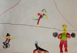 Finja Caro, 7, Akrobaten