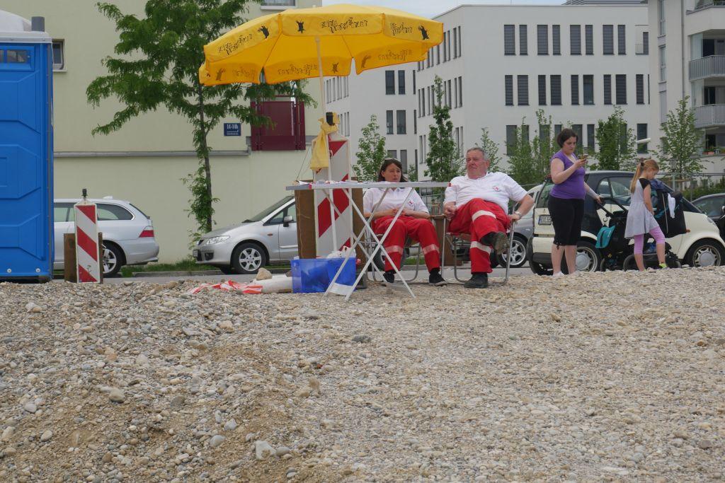 Sanitäter des BRK Aubing im Dienst