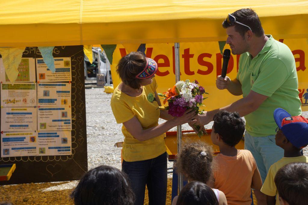 Blumen von Herrn Kriesel als Dank
