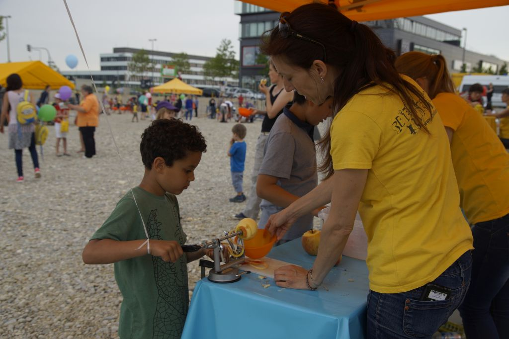 Gesunder Apfelsnack bei KIDS
