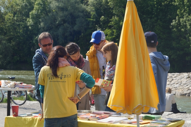 Isarspielmeile 2014: Infostand