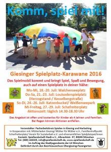 Giesinger Spielkarawane Plakat